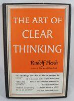 The Art Of Clear Thinking by Rudolf Flesch 1951 HC/DJ