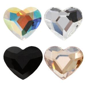 Genuine PRECIOSA 438 18 301 Heart MAXIMA Flat Backs No Hotfix Crystals
