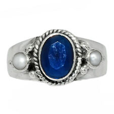 Sapphire - India 925 Sterling Silver Ring Jewelry s.6.5 AR163024