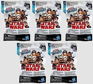 Lot of 5 Hasbro Micro Force Star Wars Mystery Figure Blind Bags Series 3 (2/bag)