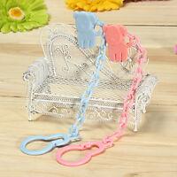 1*Schnullerkette für Baby Schnuller Nuckel Nuckelkette mit Clip Schnuller K V3Y0