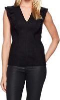 Bailey 44 Women's Blouse Black Size Large L Goldilocks Ruffle Sleeve $168- #036