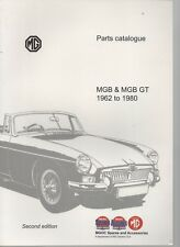 MGB & MGB GT 1962 TO 1980 PARTS CATALOGUE SECOND EDITION PAPERBACK 2009