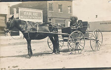 c1910 RPPC Buggy, Horse, Passengers Fablake Real Estate Co. Real Photo Postcard