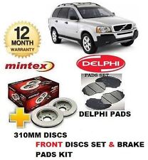 FOR VOLVO XC90 2.4 D5 2002-->ON FRONT BRAKE 316mm DISCS SET & DISC PADS  KIT