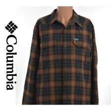Columbia Mens Fleece Lining Plaid Striped Checked L/S Button Front Shirt 18.5 37