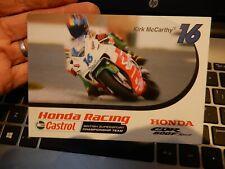 More details for honda racing kirk mccarthy postcard motorcycle