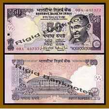 India 50 Rupees, 2014 P-104 New Rupee Symbol Unc