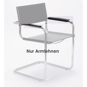 Armlehne - 2er Satz - Freischwinger Delta - Bauhaus Stuhl Armauflage Leder