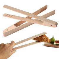 Bamboo-Wood Wooden Clip Food Toast Tongs Toaster Bacon Sugar Ice Tea Tong Sala