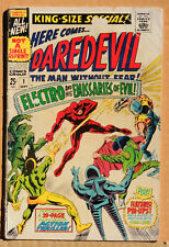 DAREDEVIL KING-SIZE SPECIAL #1, MARVEL SILVER AGE COMIC LOT OF 1, 1967, GD