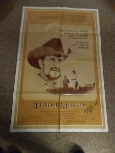 "TENDER MERCIES(1983)ROBERT DUVAL ORIGINAL 27""BY41"" 1SH POSTER SIGNED NICE!"