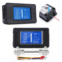 100A Dc Digital Monitor LCD Volt Amp Watt Meter Batterie Solar Power Analysator.