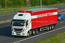 Truck Photo 12x8 - Iveco Stralis - Washingtons - FN15 GVY