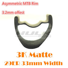 3K matte 29er 33mm wide carbon mtb rim mtb offset carbon bike rim asymmetric