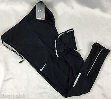 NIKE Men's Dri-Fit Athletic Running Gym Tight Fit Pants Black 717408 Size L