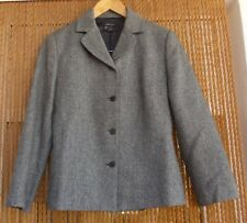 Chaqueta espiguilla gris Zara talla 38 invierno