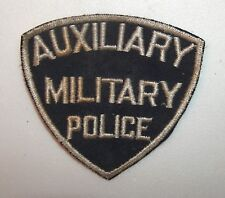 ANTIQUE TO VINTAGE COAT PATCH AUXILIARY MILITARY POLICE SHIELD SHAPE