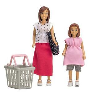 Lundby Dolls House Modern Mum & Daughter Shopping