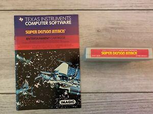 Vintage TI-99/4a 1983 Super Demon Attack
