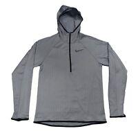 Nike DRY Training Hoodie Dri-Fit Gym Gumsmoke Hoody 886746 Large