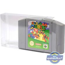 10 x N64 Game Cartridge Cart Protector STRONG 0.4mm PET Plastic Case Nintendo 64