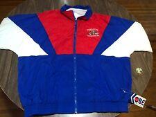 VTG Turcotte Stickhandling Hockey 2XL Red/White/Blue Nylon Jacket 90s XXL +Tag