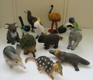 ANIMAL FIGURINE AUSTRALIAN BIRDS ANIMALS SCIENCE MODEL CAKE TOPPER KOALA DINGO