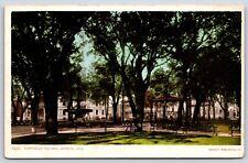 Bienville Square Iron Fountain in Mobile, Alabama White Border Postcard