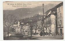 CARTOLINA 1919 UN SALUTO DA BELLANO PIAZZA TOMMASO GROSSI RIF 14226
