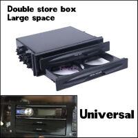 Universal Car Large Space Double Din Radio Pocket Drink Cup Holder Storage Tide