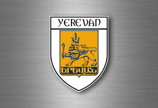 Sticker decal souvenir car coat of arms shield city flag erevan armenia