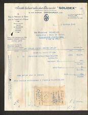 """CHATEAUROUX (36) VETEMENTS de TRAVAIL """"SOLIDEX / OKAZE / RUSTICA"""" 1953"""