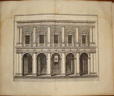 Stampa incisione Scala Santa Sancta Sanctorum Roma Blaeu Mortier engraving