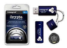 Encrypted 16 GB USB Flash Drive with 256 Bit Military Security for PC & Mac.