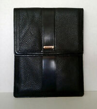 BURBERRY BLACK PEBBLED LEATHER IPAD CASE TABLET SLEEVE COVER TECH FOLIO $425