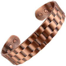 XL Mens Chunky Link Magnetic Copper Bracelet 6 Strong RARE Earth Magnets