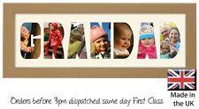 Grandad Photo Frame Letter Word Name Frame Single Mounted 1349A