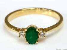 Emerald Yellow Gold 14k Fine Rings