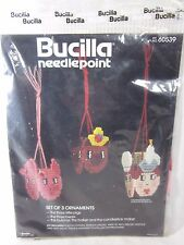 Bucilla Christmas Needlepoint 3 Ornaments 3 Little Pigs 3 Bears Butcher Sealed