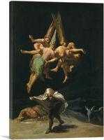 ARTCANVAS The Witches Flight 1798 Canvas Art Print by Francisco De Goya