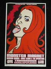 MB/ 2002 Rock Roll Concert Poster Monster Magnet Brian Ewing S/N LT-300 Red Head