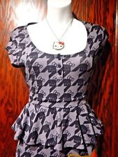 HELLO KITTY kawaii sanrio rockabilly pin-up peplum dress & matching necklace 2F