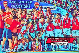 Arsenal - The Invincibles Comic Icons Art Print (Available In 4 Formats)