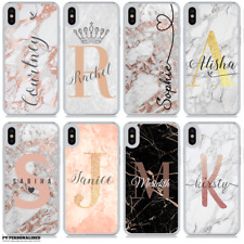 MARBLE NAME INITIALS MONOGRAM PERSONALISED HARD PHONE CASE FOR APPLE IPHONE