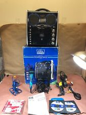 The Singing Machine Portable Home Karaoke System w/ Lights & 2 Mic Jacks Sml-383