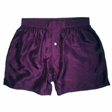 "Royal Silk Men's Boxer Shorts (30""-42"") – Hot, Spicy Silk Colors – Washable"
