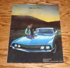 Original 1970 1/2 Ford Falcon Sales Brochure 70