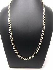 "9Carat (9ct) Yellow Gold Curb Chain - Solid - 20"" Long - Unisex - 10.45g"
