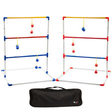 Portable Ladder Ball Toss Game Set Indoor/Outdoor Patio Backyard Lawn Game